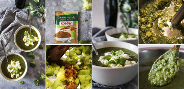 Brokolijevo-špinačna juha s skuto
