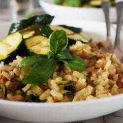 Bučkina rižota s popečenimi bučkami