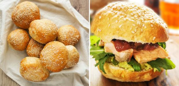 Burger bombetke in Burger z lososom