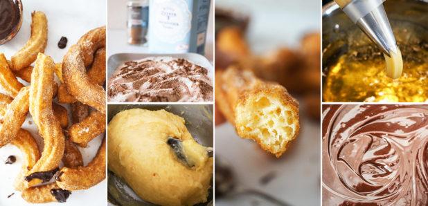 Enostavni domači churrosi (španski ocvrtki) s čokoladno pomako