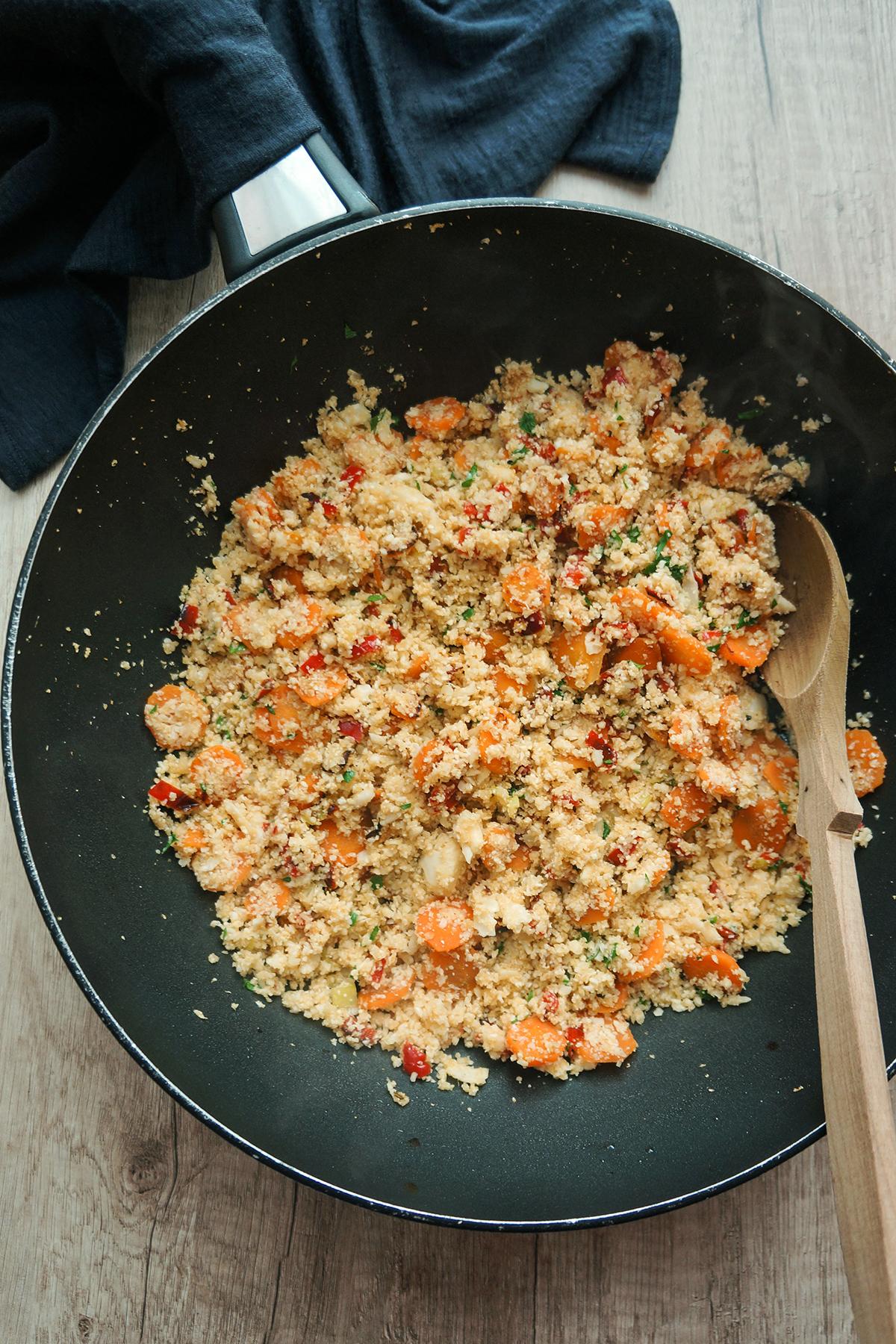 Cvetačni riž z zelenjavo