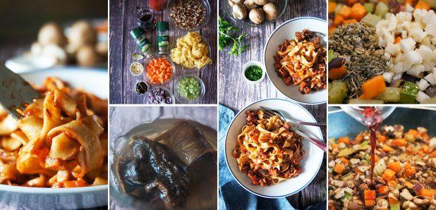 Rezanci s fantastično bolonjsko omako z gobami