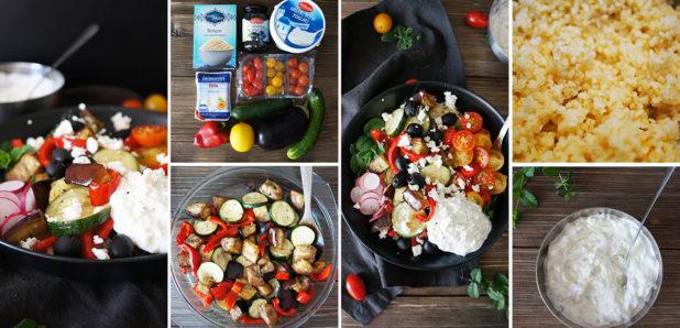 Grška pojedina – bulgur z zelenjavo in tzatziki omako