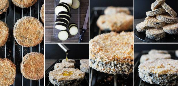 Božanski v pečici ocvrti jajčevci