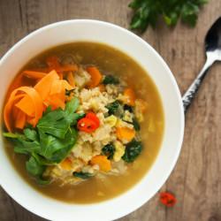 Jesenska zelenjavna juha z bulgurjem