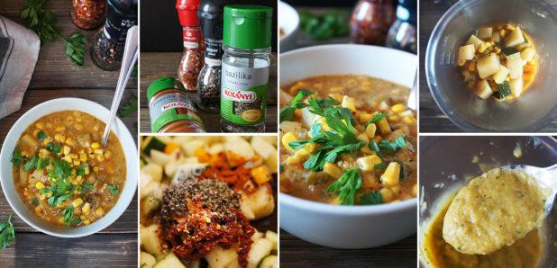 KLIK: Kremna koruzna juha s krompirjem in bučko