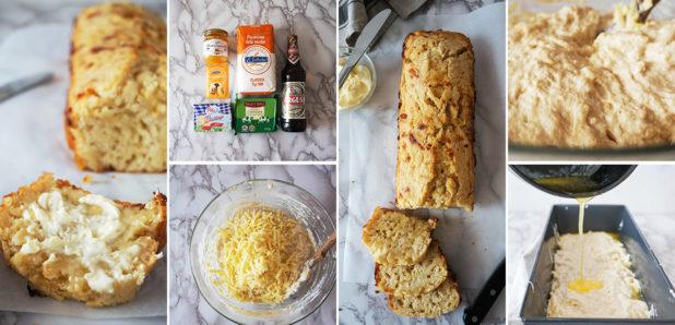 Slasten kruh s pivom in sirom