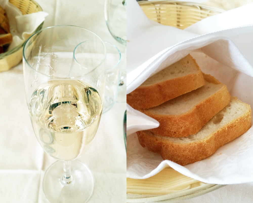 Šampanjec in masleni kruh