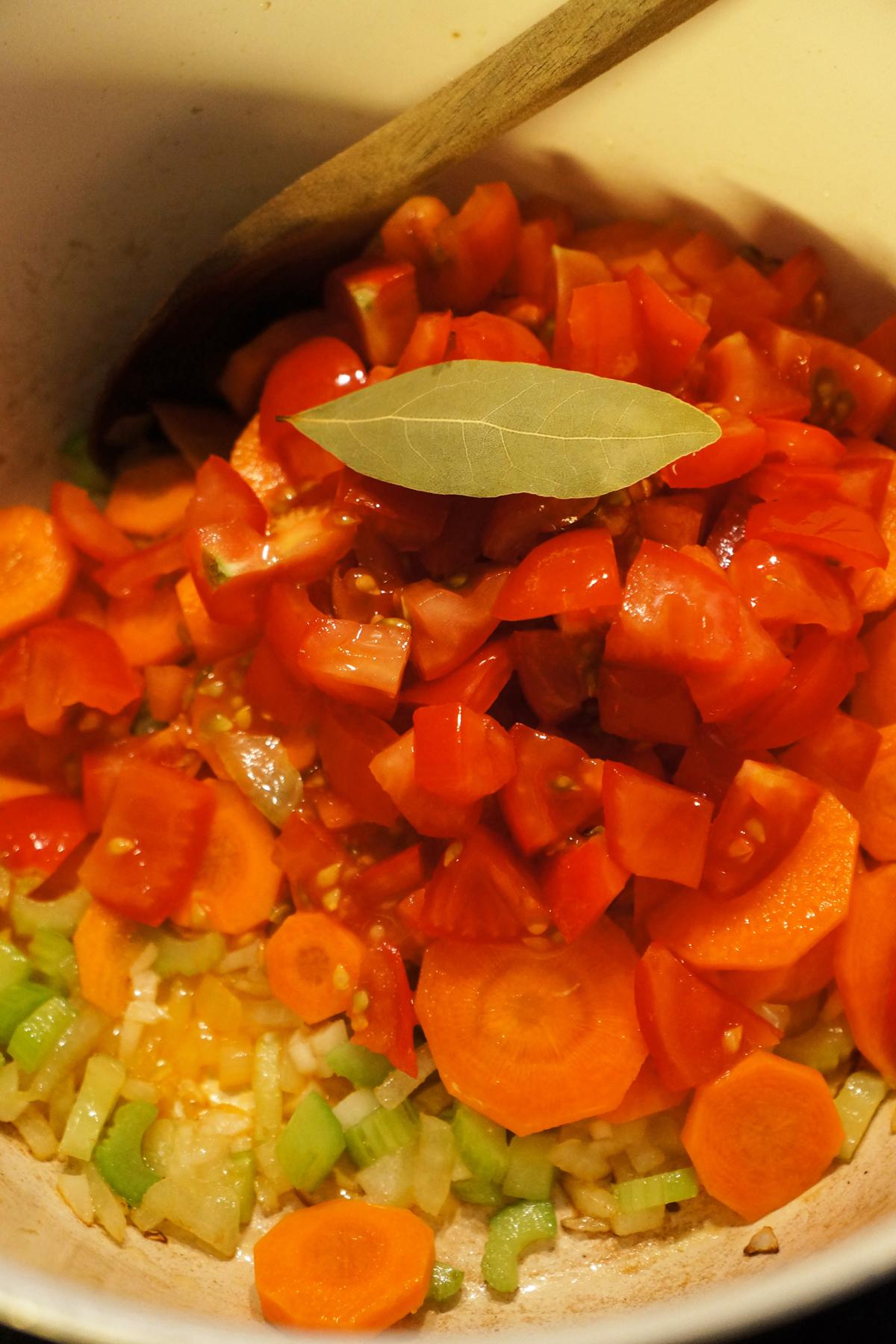 Juha iz rdeče leče z zelenjavo