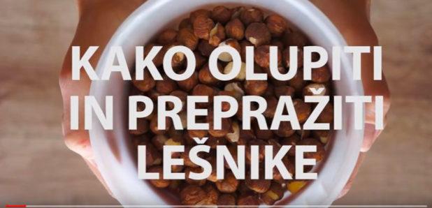 Video Kako olupiti in prepražiti lešnike