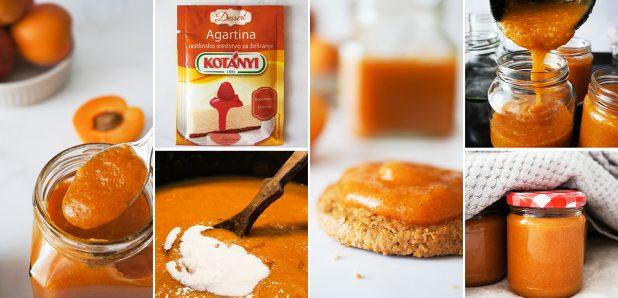 Domača manj sladka marelična marmelada