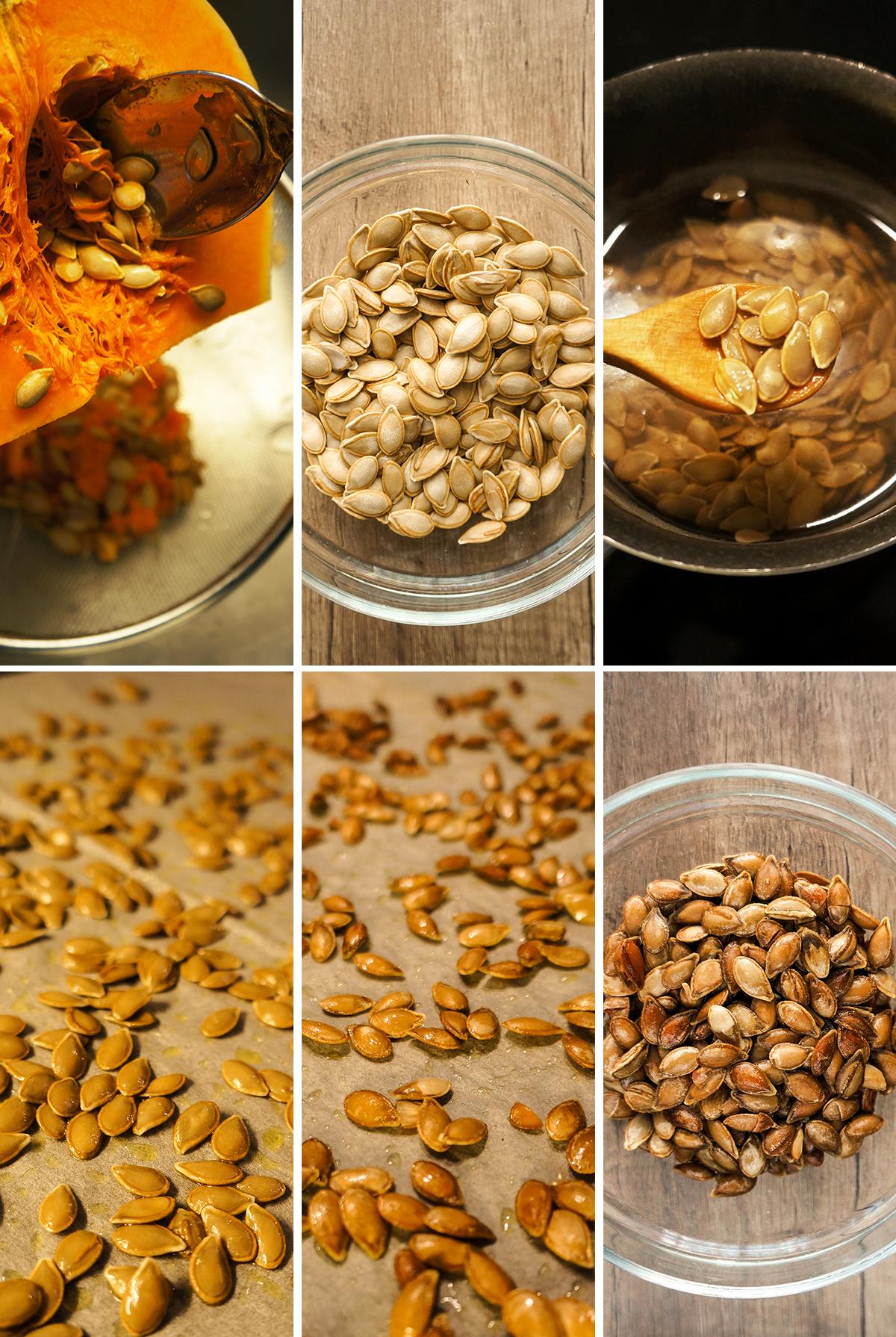 Pečenje bučnih semen
