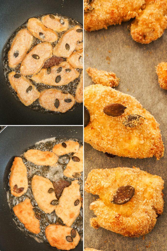 Piščančji pohanček z arašidovo pomako