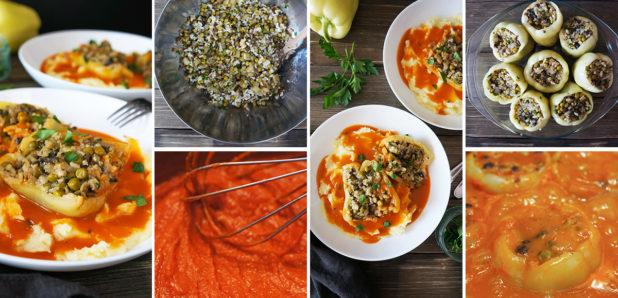 KLIKNI ZA OGLED FOTKE: Zelenjavne polnjene paprike v paradižnikovi omaki