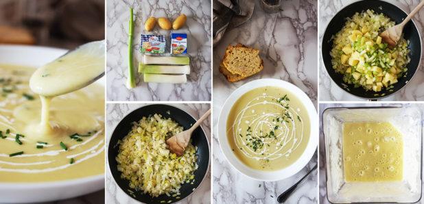 Vichyssoise: porova juha s krompirjem