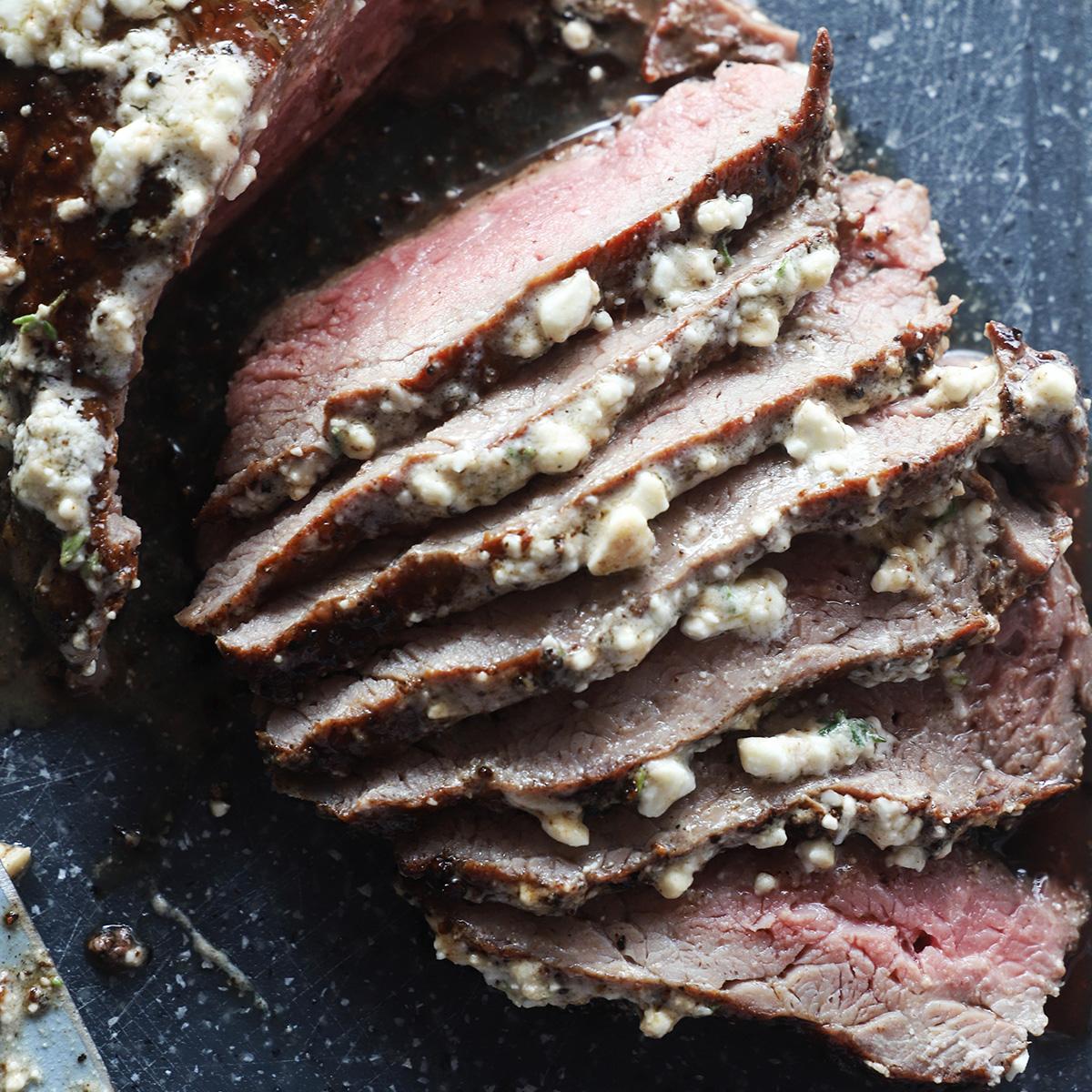 Popolno pečen steak s feto