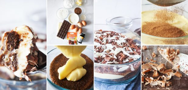 Božanski biskvitni čokoladni tiramisu (brez kave)