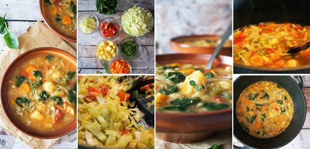 """Vseletna juha s """"sladkim"""" zeljem, krompirjem in zelenjavo"""